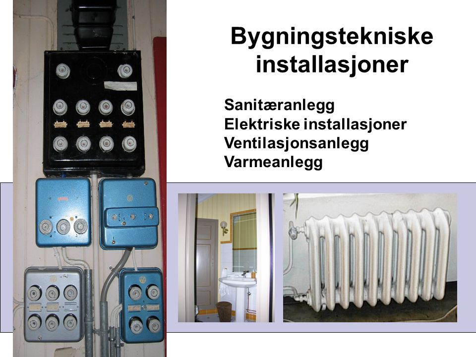 Bygningstekniske installasjoner