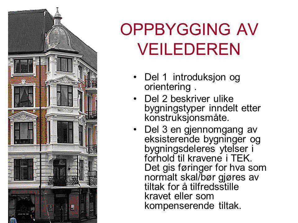 OPPBYGGING AV VEILEDEREN