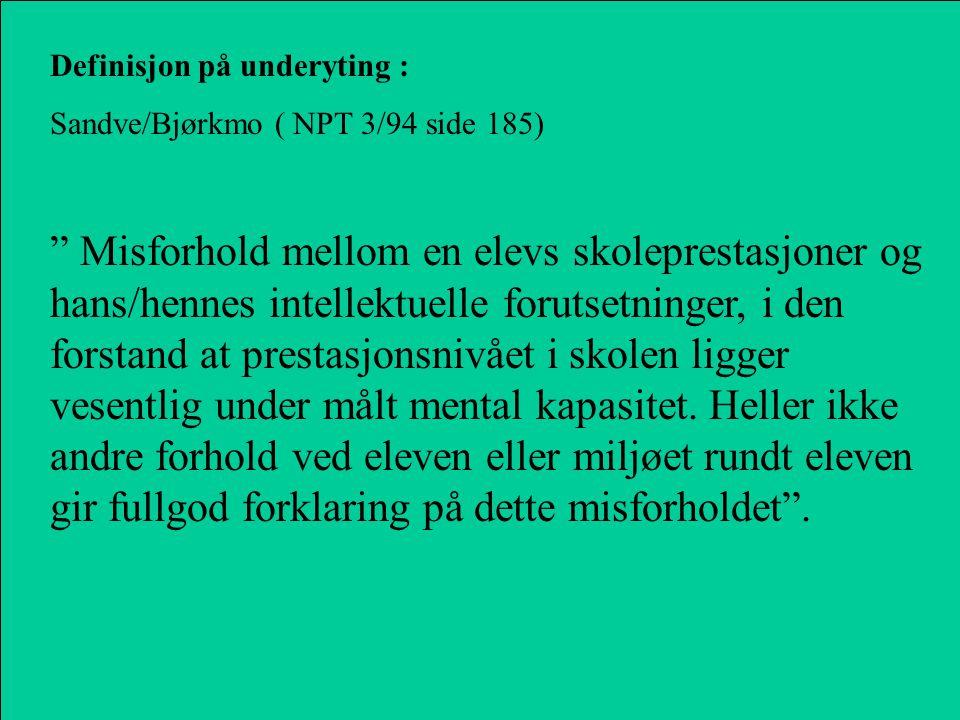 Definisjon på underyting :