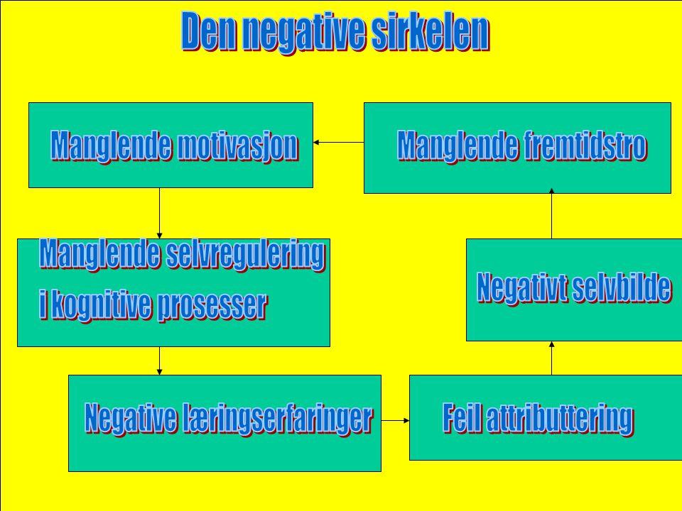 Den negative sirkelen Manglende motivasjon Manglende fremtidstro