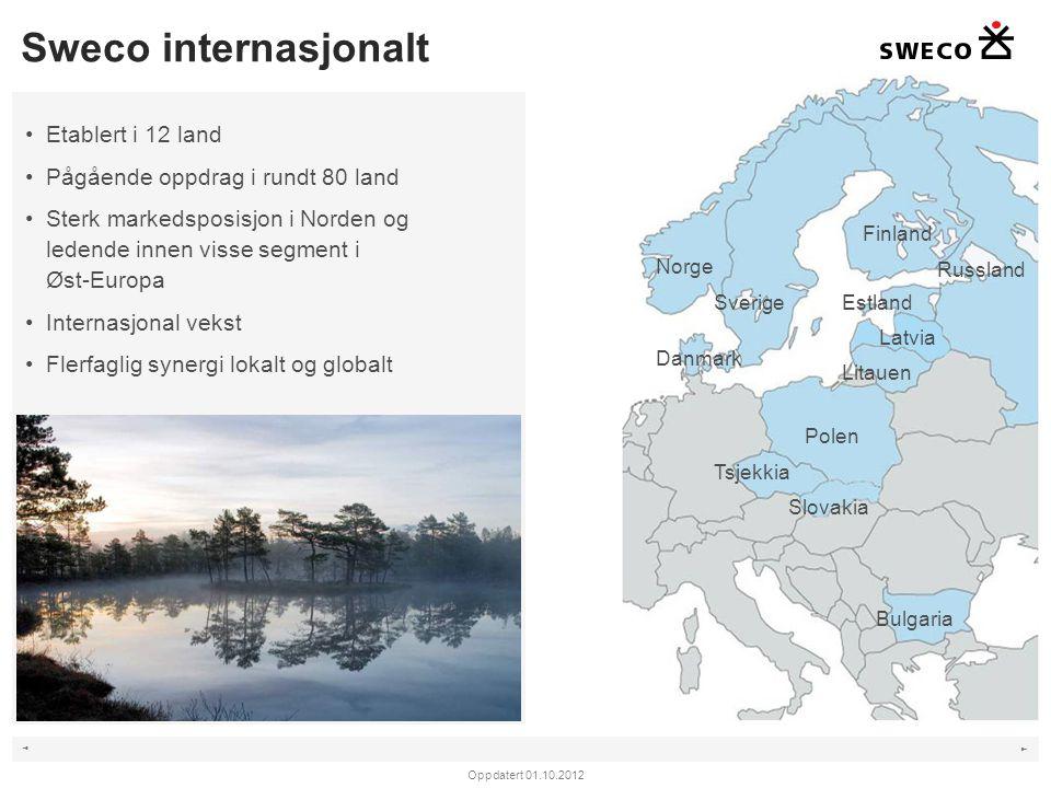 Sweco internasjonalt Etablert i 12 land