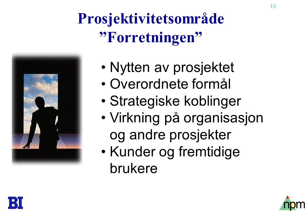 Prosjektivitetsområde Forretningen