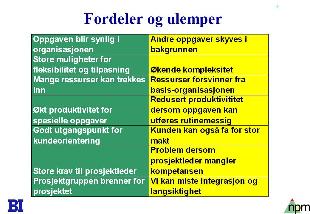 Fordeler og ulemper Copyright Tore H. Wiik