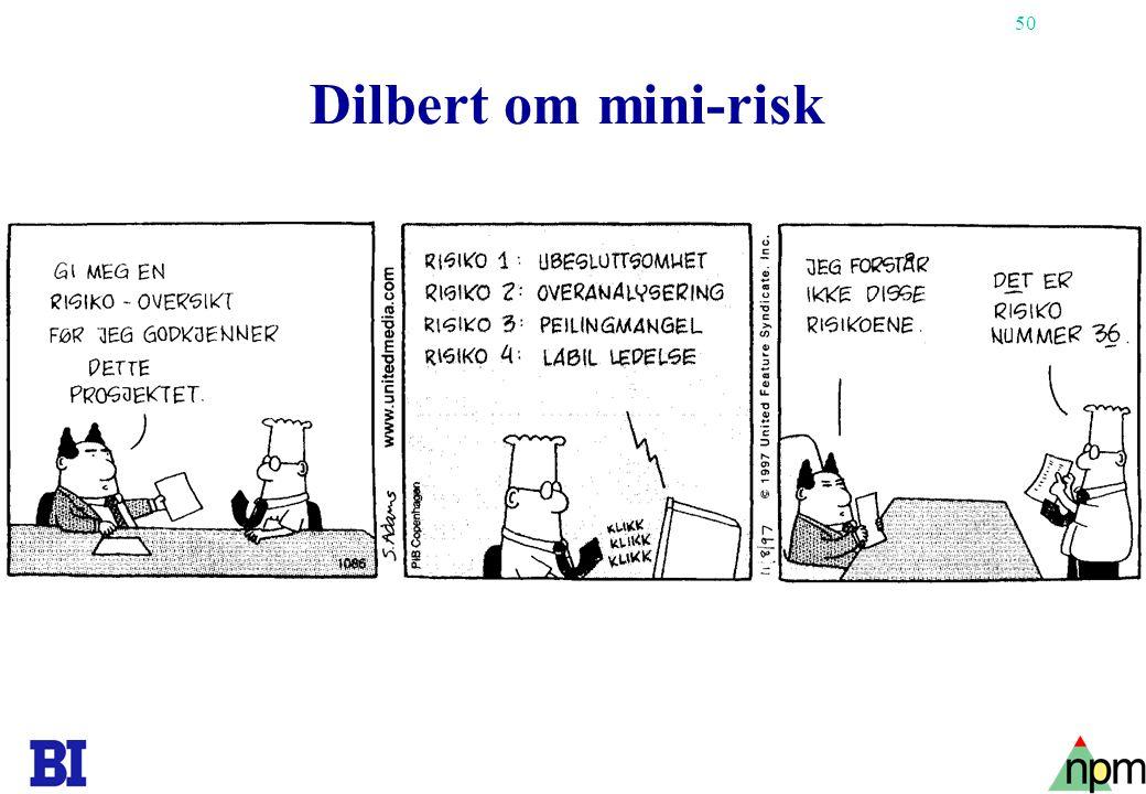Dilbert om mini-risk Copyright Tore H. Wiik
