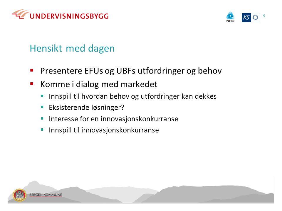 Hensikt med dagen Presentere EFUs og UBFs utfordringer og behov