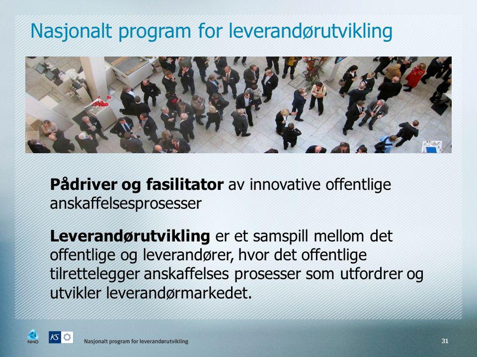 Nasjonalt program for leverandørutvikling