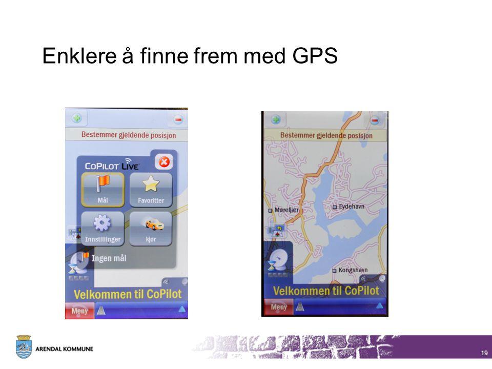 Enklere å finne frem med GPS
