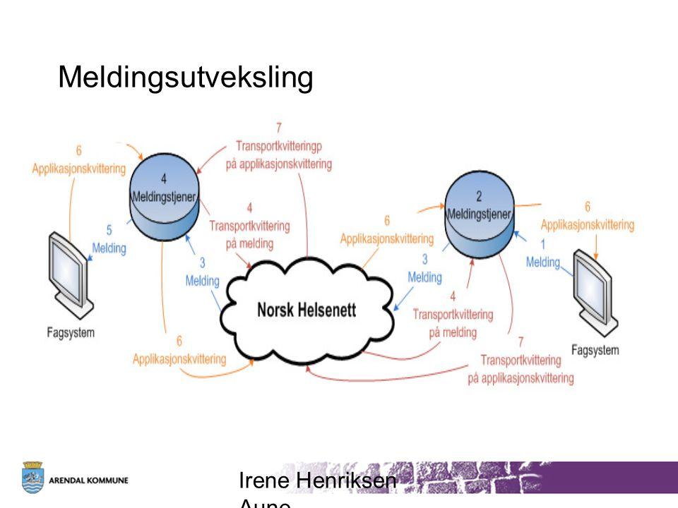 Meldingsutveksling Irene Henriksen Aune