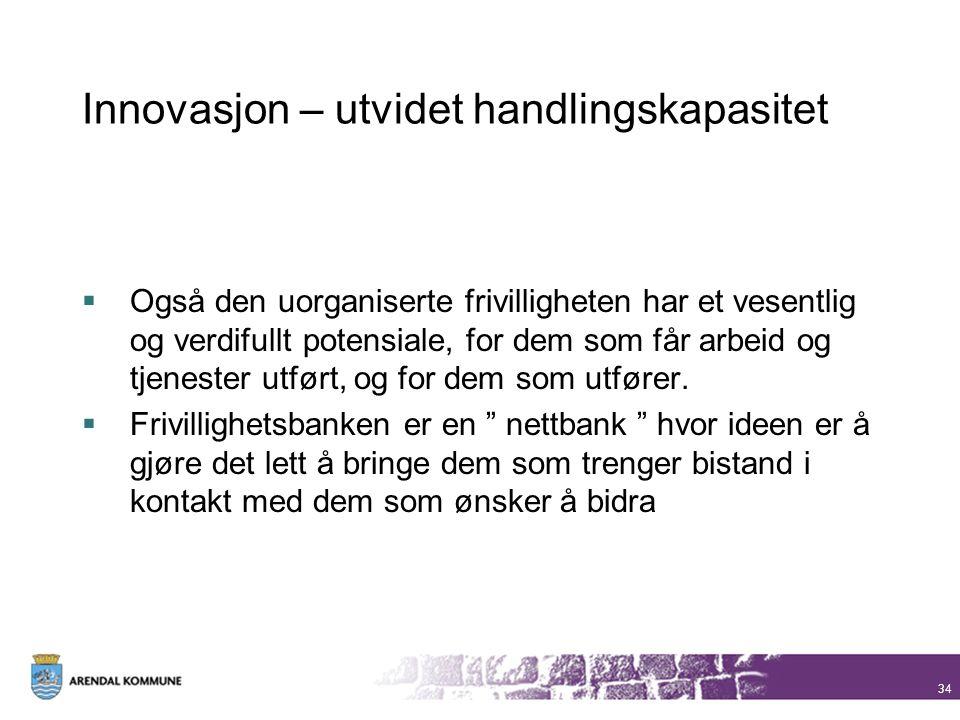 Innovasjon – utvidet handlingskapasitet