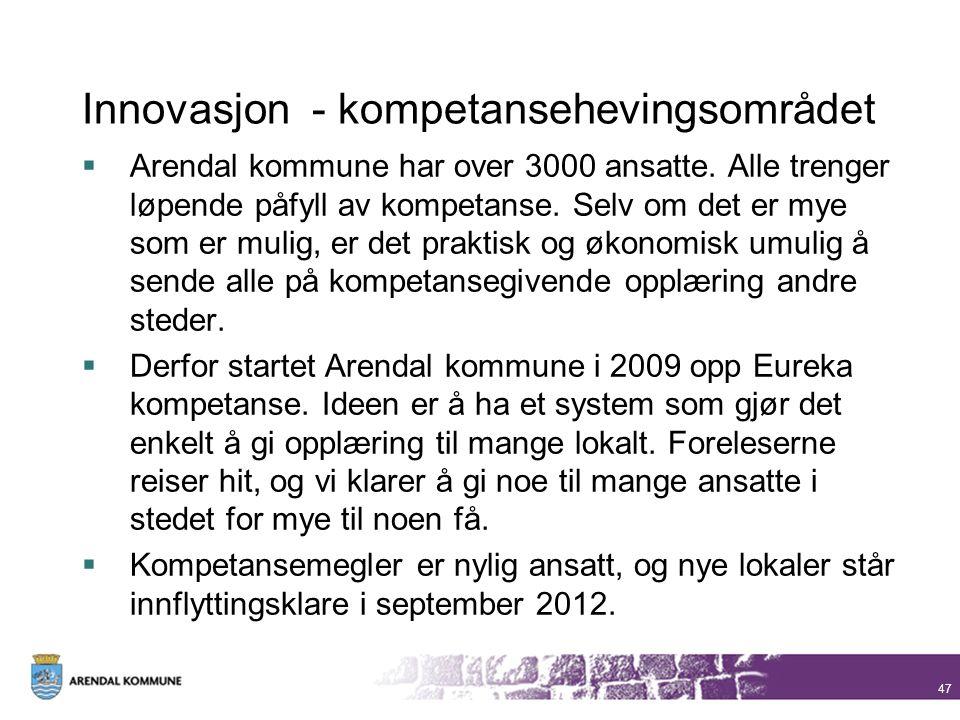 Innovasjon - kompetansehevingsområdet