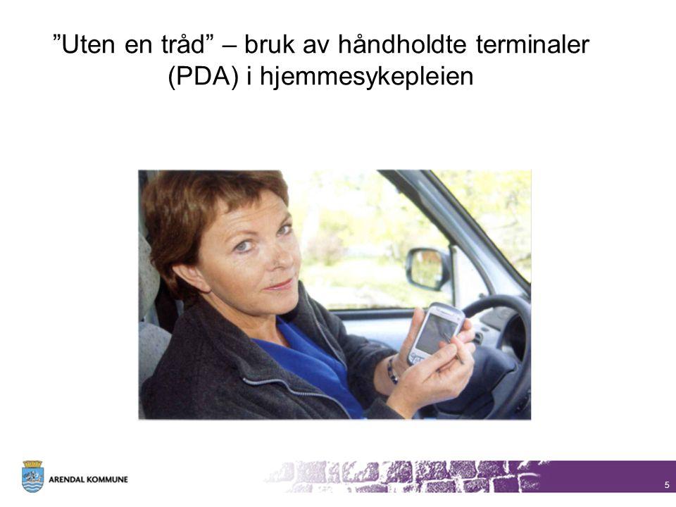 Uten en tråd – bruk av håndholdte terminaler (PDA) i hjemmesykepleien
