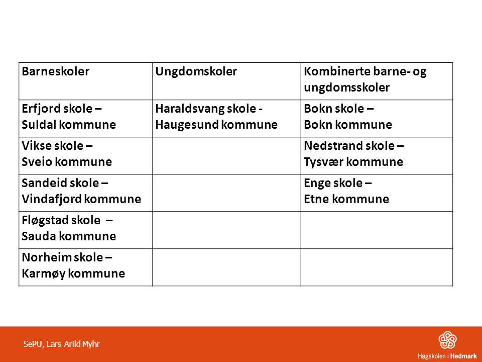 Kombinerte barne- og ungdomsskoler Erfjord skole – Suldal kommune