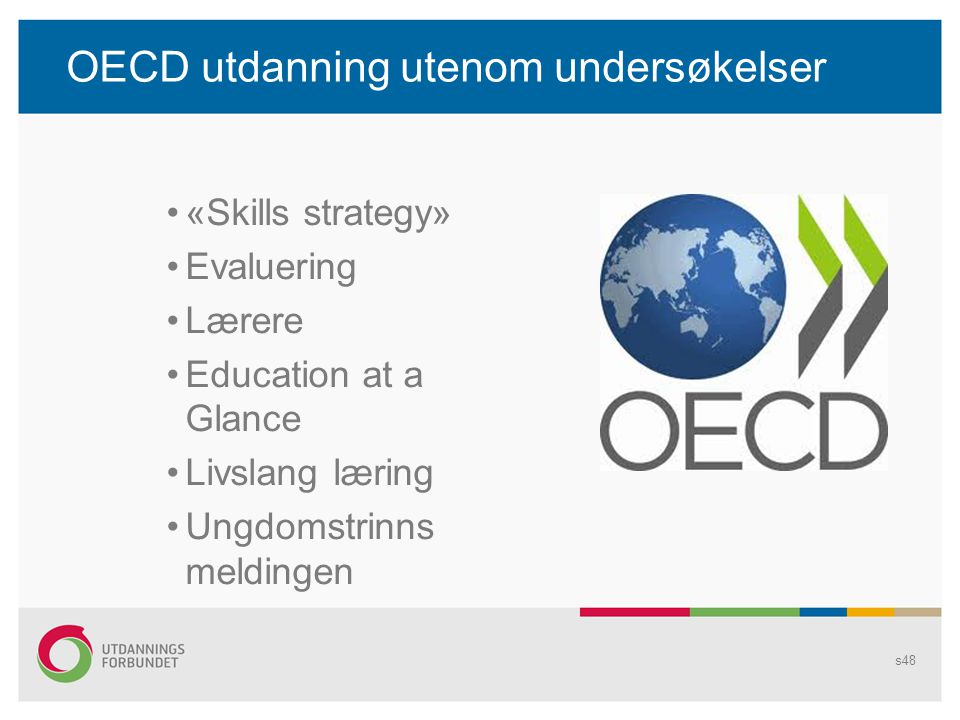 OECD utdanning utenom undersøkelser