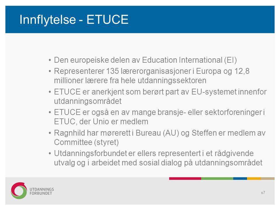 Innflytelse - ETUCE Den europeiske delen av Education International (EI)