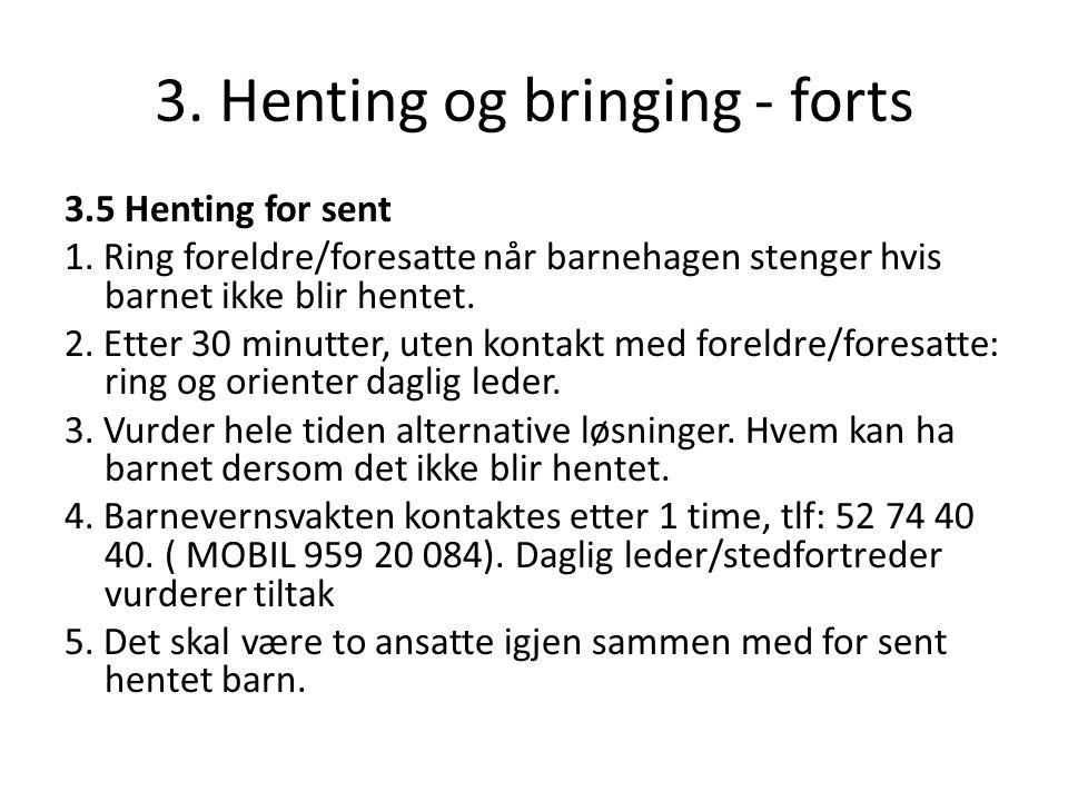 3. Henting og bringing - forts