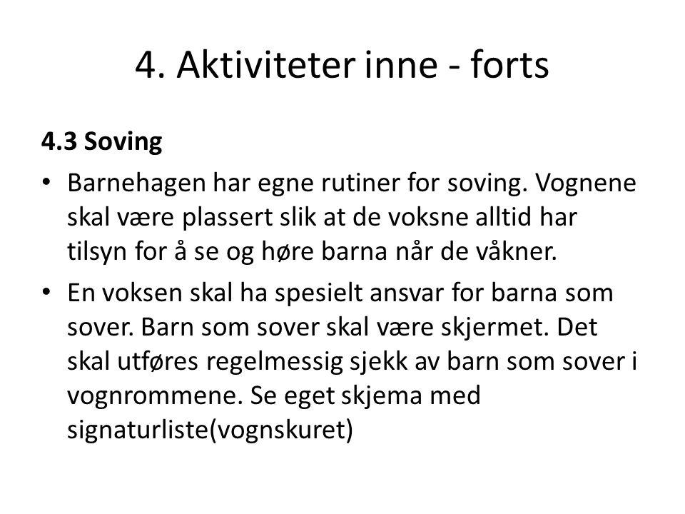4. Aktiviteter inne - forts
