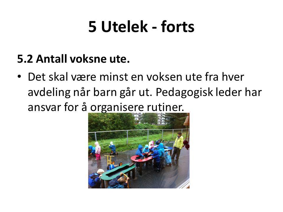 5 Utelek - forts 5.2 Antall voksne ute.
