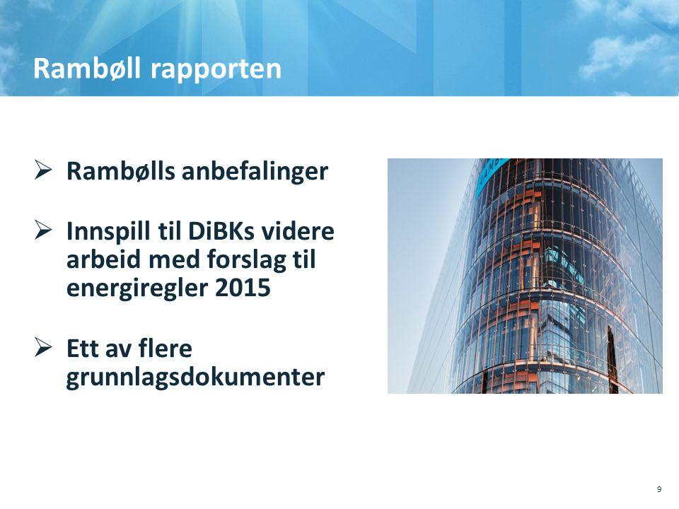 Rambøll rapporten Rambølls anbefalinger