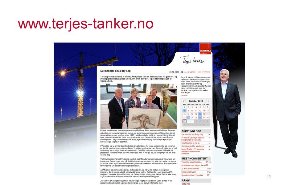 www.terjes-tanker.no Vestlandske BA dagen 011112