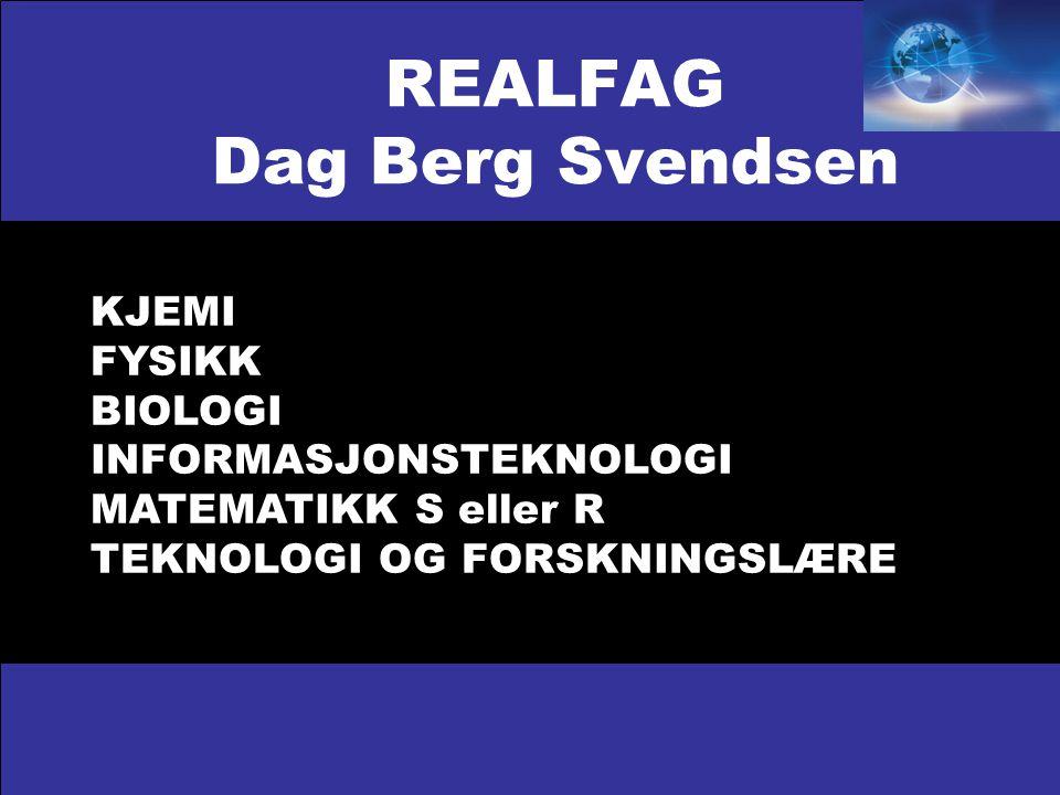 REALFAG Dag Berg Svendsen