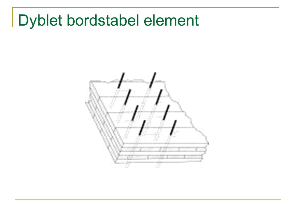 Dyblet bordstabel element