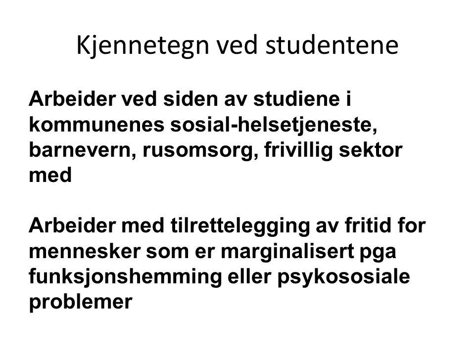 Kjennetegn ved studentene