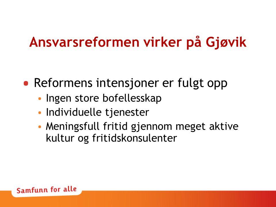 Ansvarsreformen virker på Gjøvik