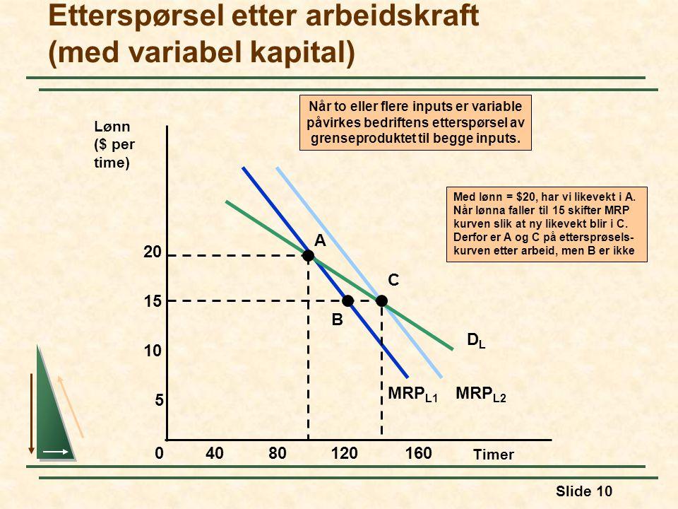 Etterspørsel etter arbeidskraft (med variabel kapital)