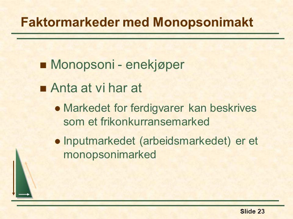 Faktormarkeder med Monopsonimakt