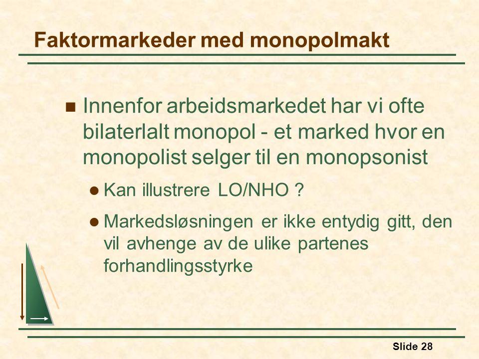 Faktormarkeder med monopolmakt