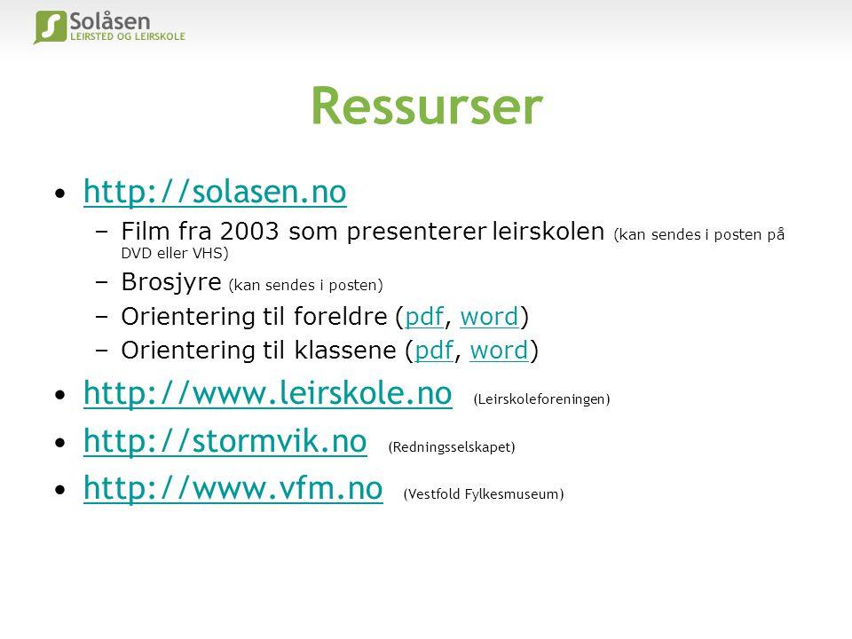 Ressurser http://solasen.no