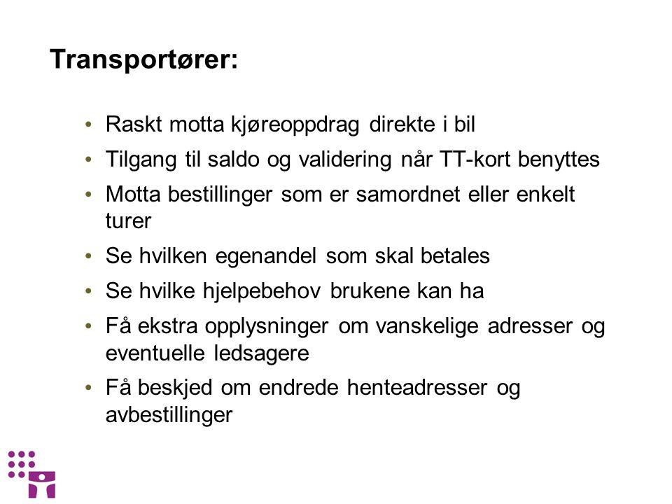 Transportører: Raskt motta kjøreoppdrag direkte i bil