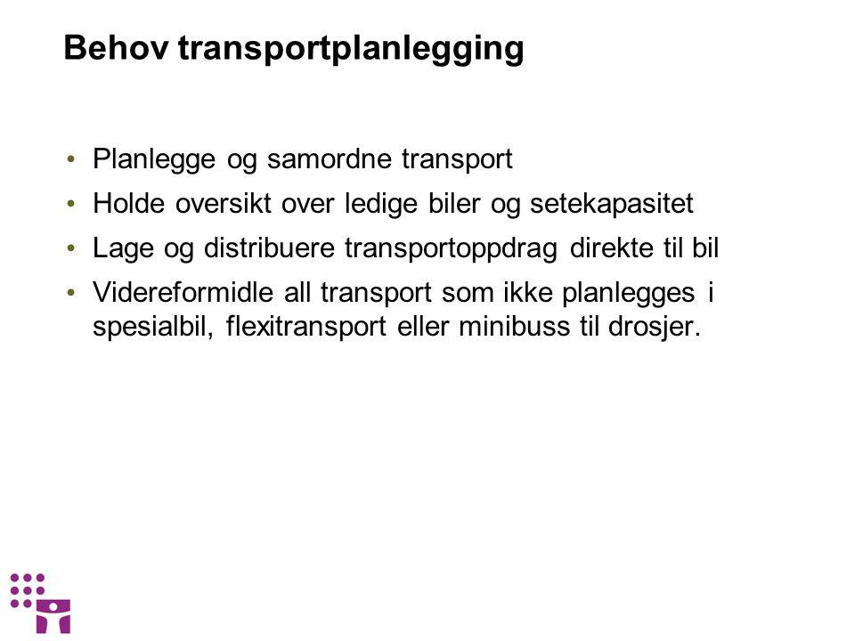 Behov transportplanlegging