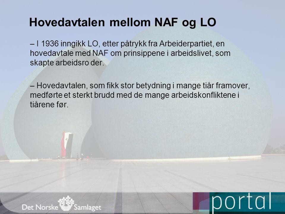 Hovedavtalen mellom NAF og LO