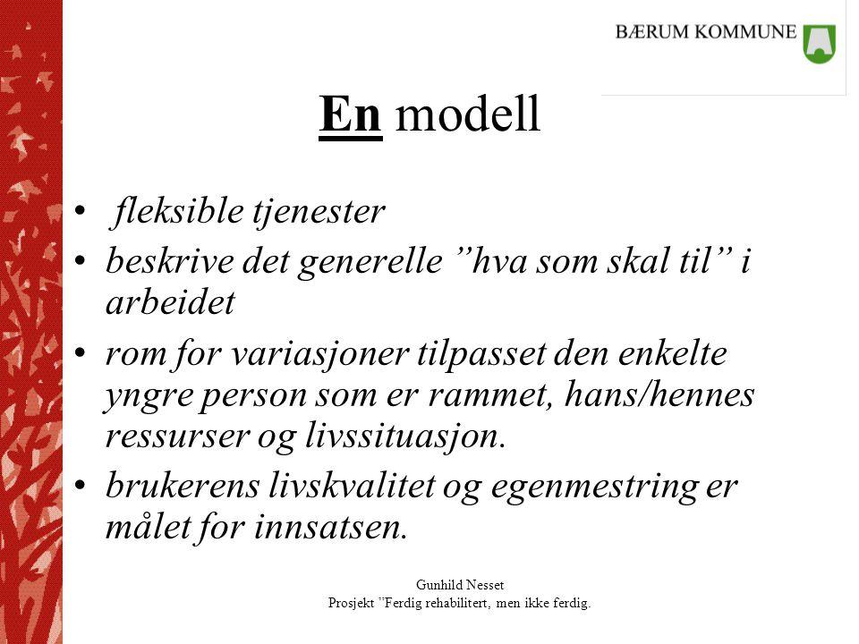 En modell fleksible tjenester