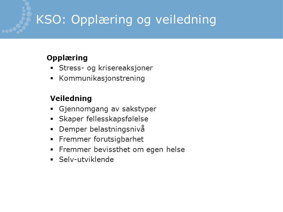 KSO: Opplæring og veiledning