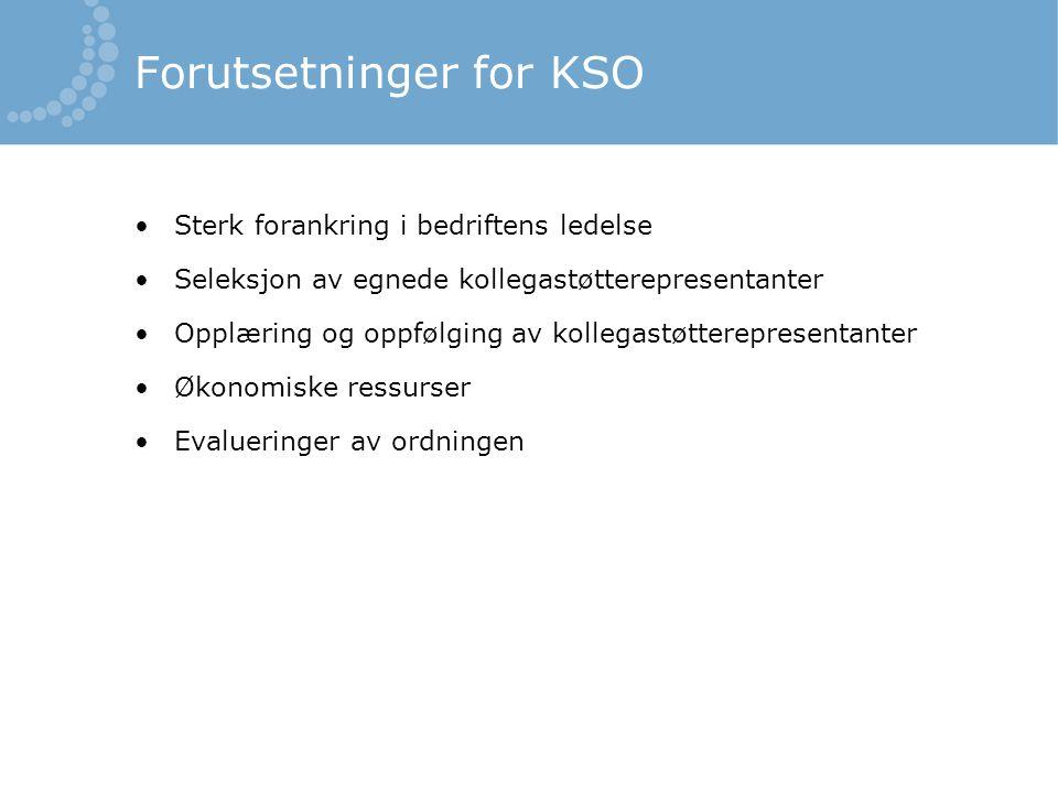 Forutsetninger for KSO