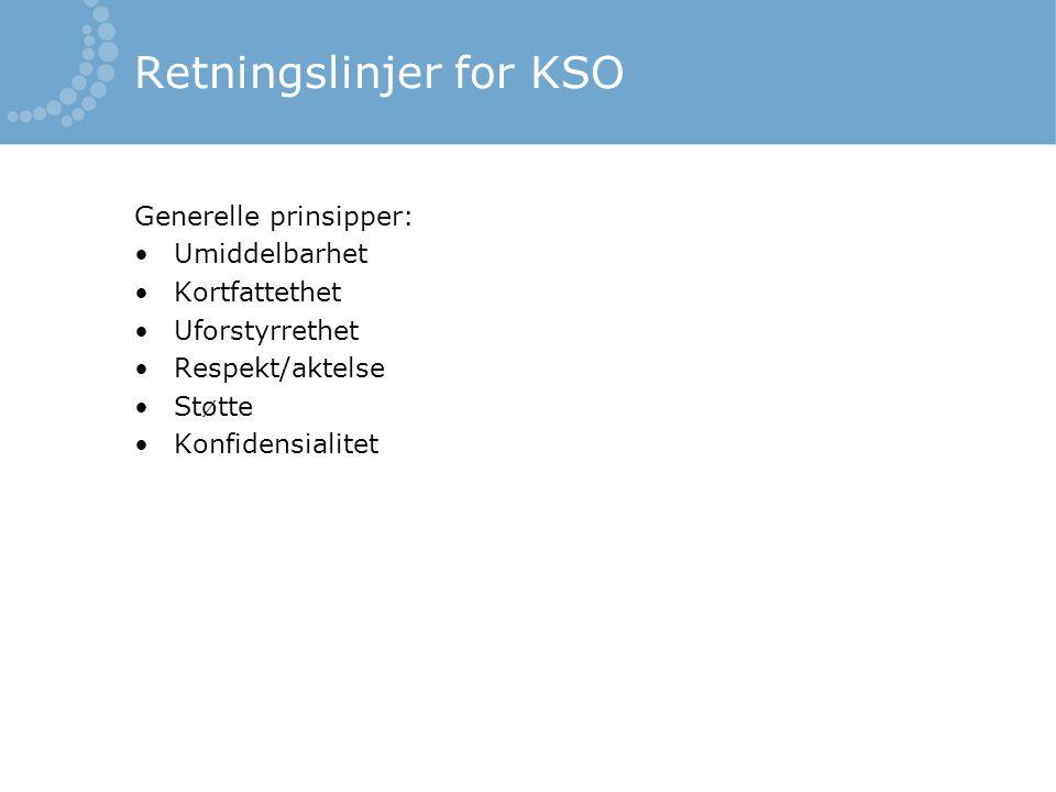 Retningslinjer for KSO