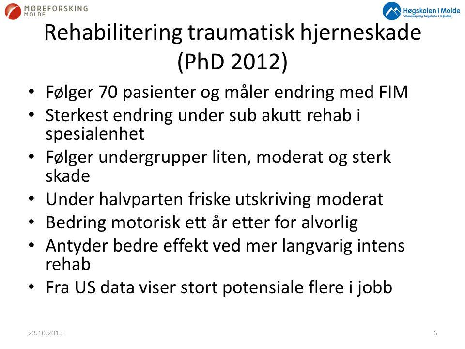 Rehabilitering traumatisk hjerneskade (PhD 2012)