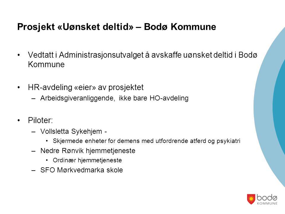 Prosjekt «Uønsket deltid» – Bodø Kommune