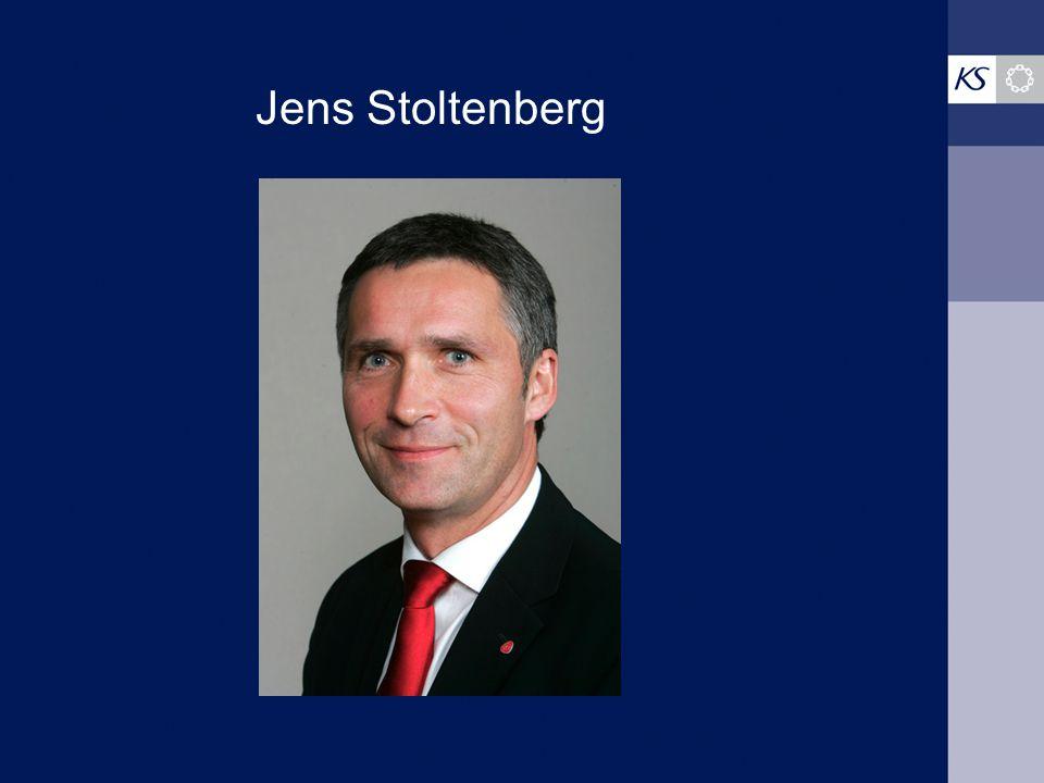 Jens Stoltenberg Dette er en tekstside med blå bakgrunn.