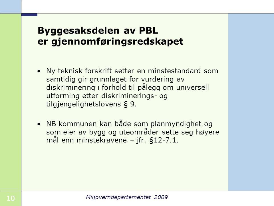 Byggesaksdelen av PBL er gjennomføringsredskapet