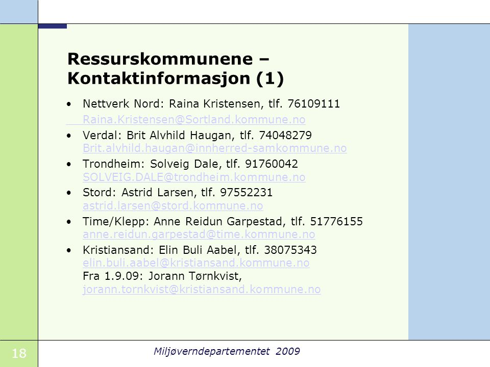 Ressurskommunene – Kontaktinformasjon (1)