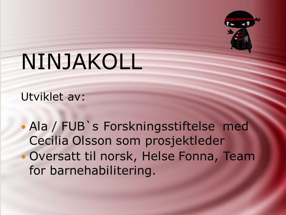 NINJAKOLL Utviklet av: Ala / FUB`s Forskningsstiftelse med Cecilia Olsson som prosjektleder.