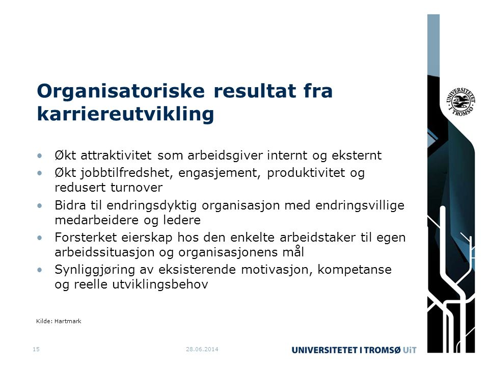Organisatoriske resultat fra karriereutvikling
