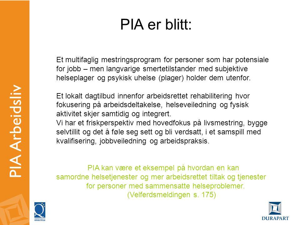 PIA Arbeidsliv PIA er blitt:
