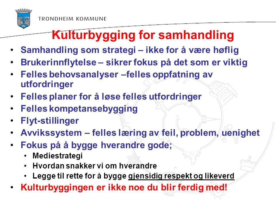 Kulturbygging for samhandling