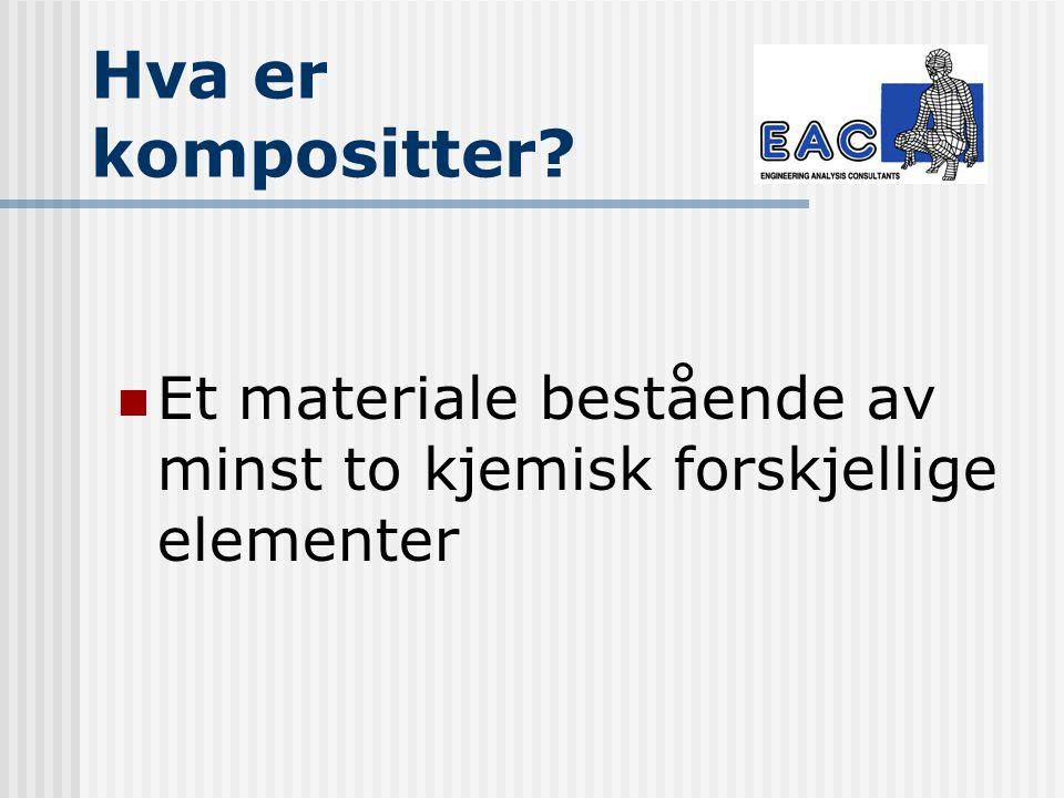 Hva er kompositter Et materiale bestående av minst to kjemisk forskjellige elementer