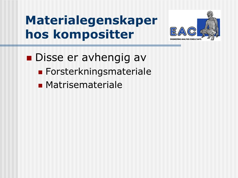 Materialegenskaper hos kompositter