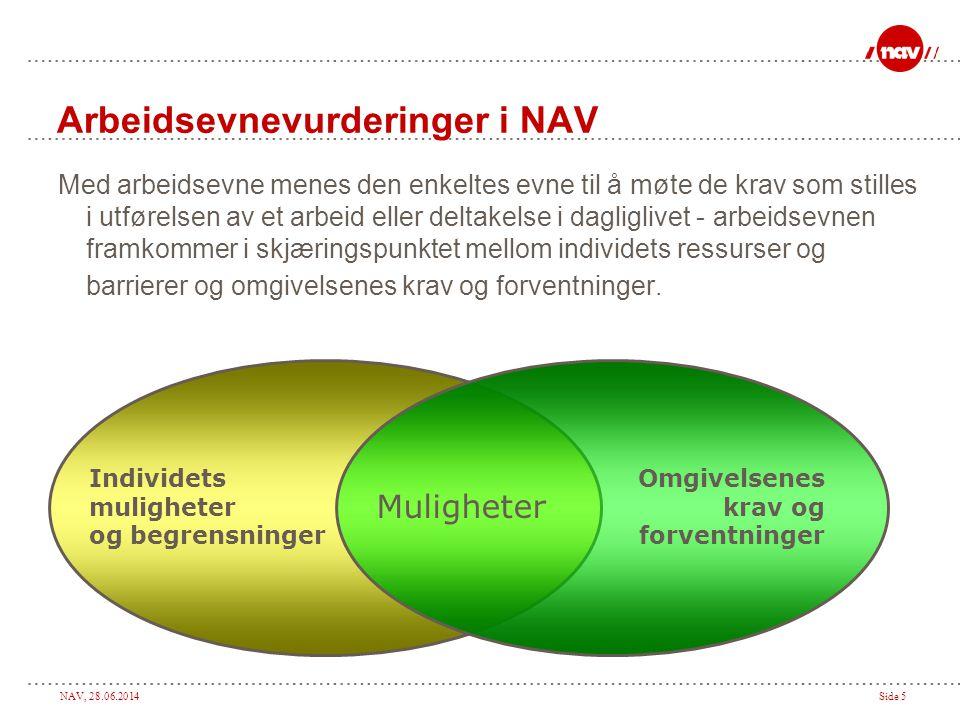 Arbeidsevnevurderinger i NAV